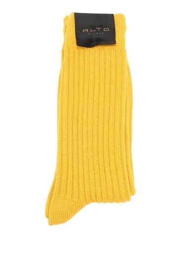 Alto Socks Alto Socks  Erkek Yün Çorap 101560317 Sarı